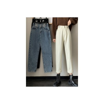 【送料無料】秋冬 韓国風 レトロ 何でも似合う ハイウエストのジーンズ 女   346770_A64445-9354125