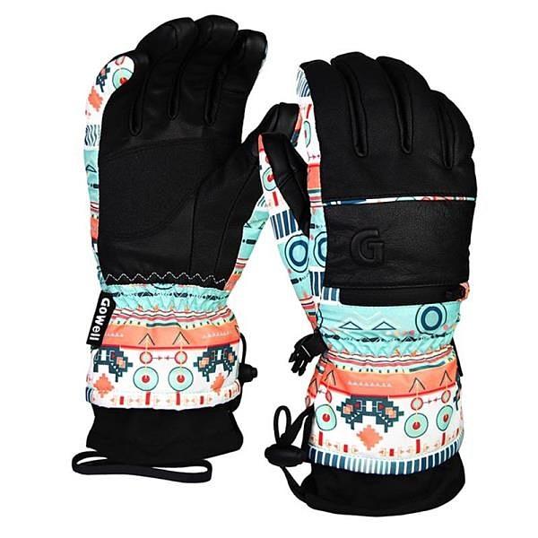 【南紡購物中心】【威飛客 WELLFIT】GO WELL防水滑雪手套-女款-波西米亞