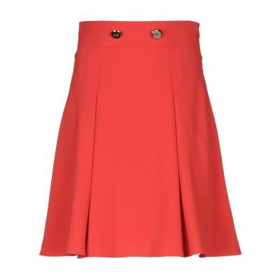 ELISABETTA FRANCHI ひざ丈スカート オレンジ 44 ポリエステル 100% ひざ丈スカート