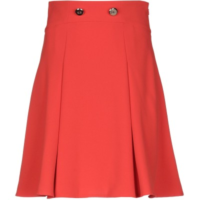 ELISABETTA FRANCHI ひざ丈スカート オレンジ 40 ポリエステル 100% ひざ丈スカート