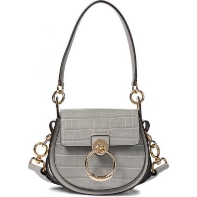 クロエ Chloe レディース ショルダーバッグ バッグ tess small leather shoulder bag Stormy Grey