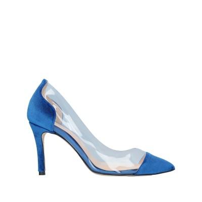 LUCA VALENTINI パンプス ブルー 36 紡績繊維 パンプス