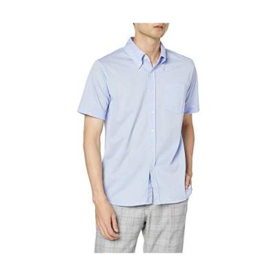 エフスタイル F-STYLE 純国産吸汗速乾鹿の子 極薄シルキータッチ 綿混猛暑対策 ボタンダウンYシャツ F-SD020394 サックス