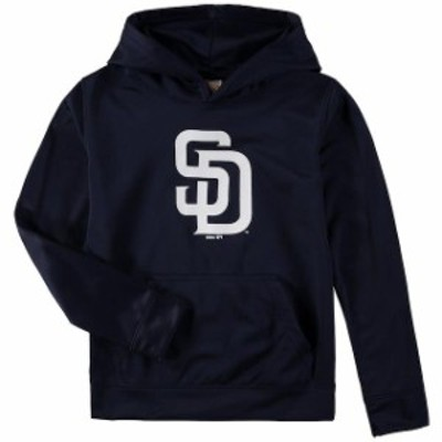 Outerstuff アウタースタッフ スポーツ用品  San Diego Padres Youth Navy Team Logo Fleece Pullover Hoodie