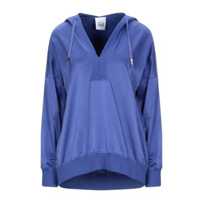 ジジル JIJIL スウェットシャツ ブルー 44 コットン 58% / シルク 35% / ポリウレタン 7% スウェットシャツ