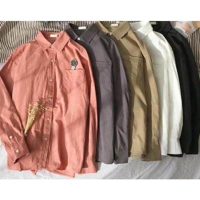 メンズ シャツ カジュアルシャツ 長袖 メンズ ワイシャツ ゆったり ビジネスシャツ オックスフォードシャツ トップス 通勤 無地 おしゃれ