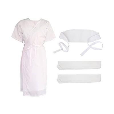 [キモノカフェ] kimono cafe 浴衣 着付け3点セット (浴衣スリップ 腰紐2本 前板伊達締め )透明バッグ・説明書付き
