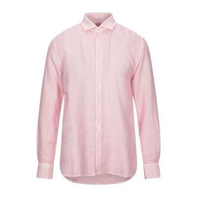 120% シャツ ピンク M リネン 100% シャツ