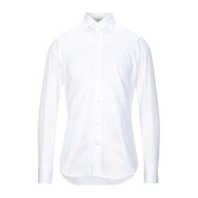 GUGLIELMINOTTI 無地シャツ ファッション  メンズファッション  トップス  シャツ、カジュアルシャツ  長袖 ホワイト