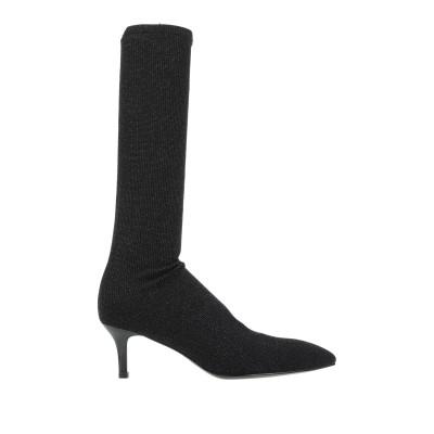 カフェノワール CAFèNOIR ブーツ ブラック 37 紡績繊維 ブーツ