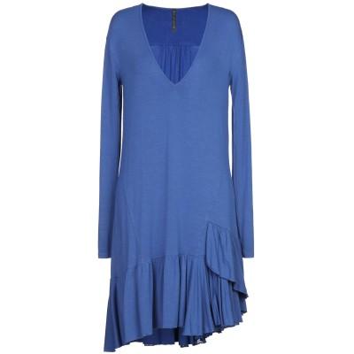 マニラ グレース MANILA GRACE ミニワンピース&ドレス ブルー 42 レーヨン 95% / ポリウレタン 5% ミニワンピース&ドレス