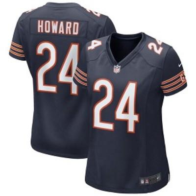 ナイキ レディース Tシャツ トップス Jordan Howard Chicago Bears Nike Women's Game Jersey Navy