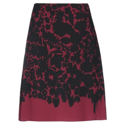 プラダ PRADA ひざ丈スカート ボルドー 38 レーヨン 98% / ポリウレタン 2% ひざ丈スカート
