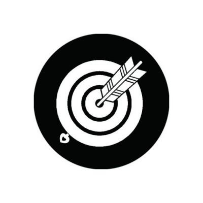 家紋シール 白紋黒地 丸的に当り矢 布タイプ 直径40mm 6枚セット NS4-0846W