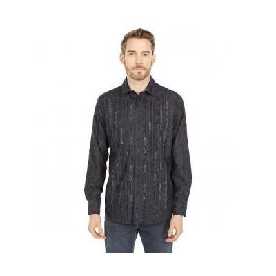 Robert Graham ロバート グラハム メンズ 男性用 ファッション ボタンシャツ Forum Long Sleeve Woven Shirt - Black