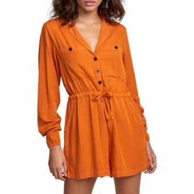 ルーカ RVCA レディース オールインワン ワンピース・ドレス Desert Daze Romper Dark Orange