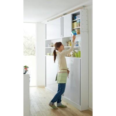 狭いキッチンでも置ける!薄型 引き戸 キッチン収納 奥行21cmタイプ 幅60cm WAP121