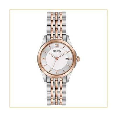 Bulova Women's Analog-Quartz Watch with Stainless-Steel Strap, Multi, 14 (Model: 98M125) 並行輸入品