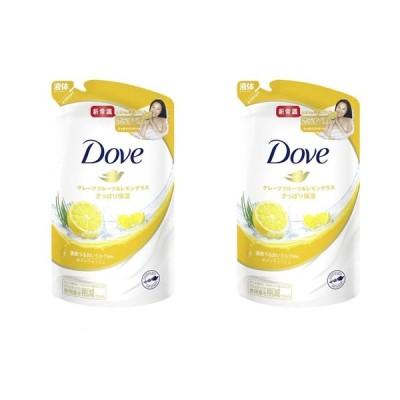 【2個セット】ダヴ(Dove) ボディウォッシュ(ボディソープ) グレープフルーツ&レモングラス 詰め替え 360g×2個