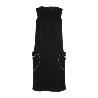 クラス ロベルト カヴァリ CAVALLI CLASS ミニワンピース&ドレス ブラック 38 レーヨン 69% / ナイロン 25% / ポリウレ