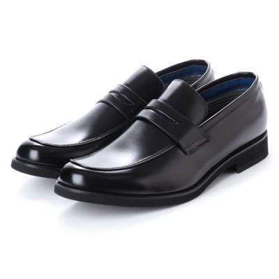 @ZINO アットジーノ ZN5003 防水 軽量 消臭 幅広 ビジネスシューズ メンズ コインローファー  キングサイズあり 学生靴 紳士靴 靴 ブラック