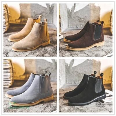 メンズ ブーツ ショートブーツ ブーティー 男子靴 革靴 本革 通勤 ウォーキング サイドゴアブーツ