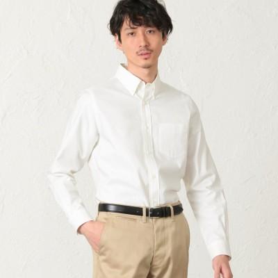 エス エッセンシャルズ S.ESSENTIALS 【2nd SKINシリーズ】超長綿オックスフォード ボタンダウンシャツ (ホワイト)
