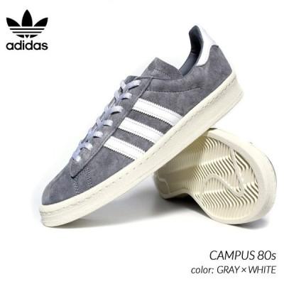 adidas CAMPUS 80s GRAY × WHITE アディダス キャンパス スニーカー ( グレー 灰色 白 ホワイト メンズ FX5439 )