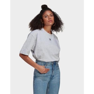 アディダス adidas Originals レディース Tシャツ トップス loungewear adicolor essentials t-shirt grey