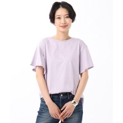 tシャツ Tシャツ 【WEB限定】バイオシルケットスムース フレアスリーブカットソー