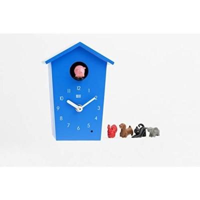 KOOKOO(クークー)アニマルハウス 青色 小さな鳩時計 モダンなデザイン かわいい壁掛け時計 お歳暮 子供へのプレゼント ギフト 置き時