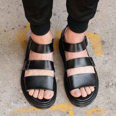 サンダル メンズ グラディエーターサンダル コンフォートメンズファッション スポーツサンダル ストラップ カジュアル アウトドア 紳士靴 無地 軽量