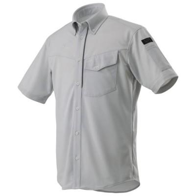 ミズノ ニットワークシャツ半袖[メンズ] 04ベイパーシルバー XL ワーキング用品 ウエア F2JC8590