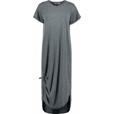 モドオードック Mod-o-doc レディース ワンピース Tシャツワンピース シャツワンピース Burnout Wash Jersey Knotted Midi Short Sleeve T-Shirt Dress Black
