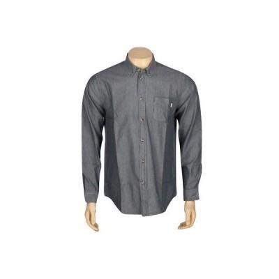 アクティブウェア トップス メンズ オベイ Obey Wise Man Long Sleeve Shirt (blue / indigo) 181200032IND