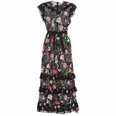 レッド ヴァレンティノ REDValentino レディース ワンピース ワンピース・ドレス Floral silk maxi dress Nero