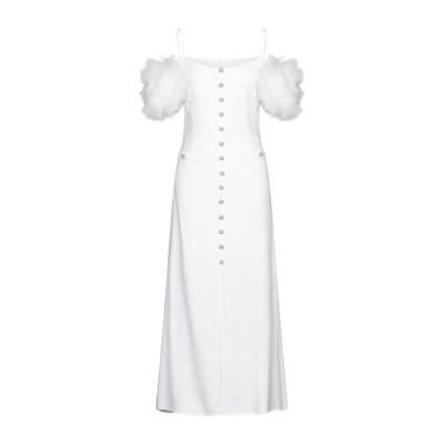 アレッサンドラ・リッチ ALESSANDRA RICH ロングワンピース&ドレス ホワイト 44 レーヨン 64% / アセテート 33% / ポリ