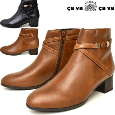 サバサバ サヴァサヴァ cavacava  cava cava ブーティー ショートブーツ 本革 レザー レディース 2820101