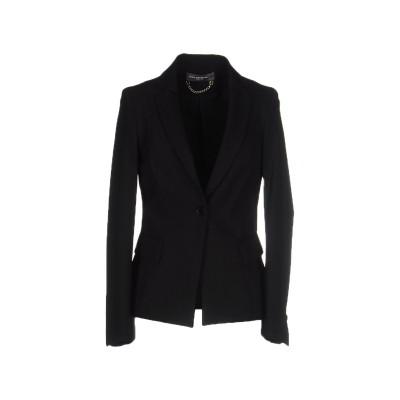 CARLA MONTANARINI テーラードジャケット ブラック 42 ナイロン 88% / ポリウレタン 12% テーラードジャケット