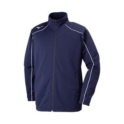 ミズノ(MIZUNO) メンズ レディース ウォームアップジャケット ディープネイビー×ホワイト 32MC9125 14 ジャージ トレーニングウェア スポーツウェア