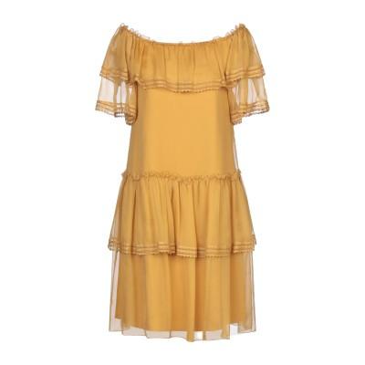 アルベルタ フェレッティ ALBERTA FERRETTI ミニワンピース&ドレス オークル 40 シルク 100% ミニワンピース&ドレス