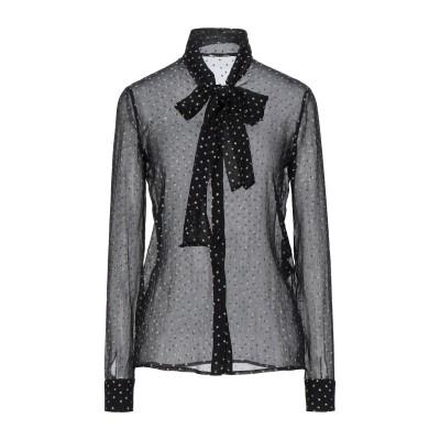 SAINT LAURENT シャツ ブラック 36 シルク 100% シャツ