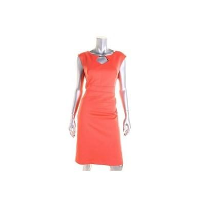 エレントレイシー ドレス ワンピース Ellen Tracy 4819 レディース オレンジ Matte Jersey Cut-Out Wear to Work ドレス 12P BHFO