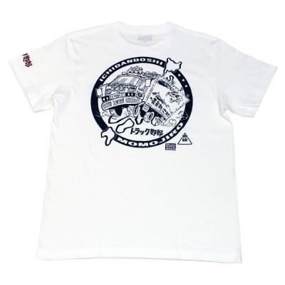 トラック野郎「トラック魂度胸台本イラスト」Tシャツ(ホワイト)