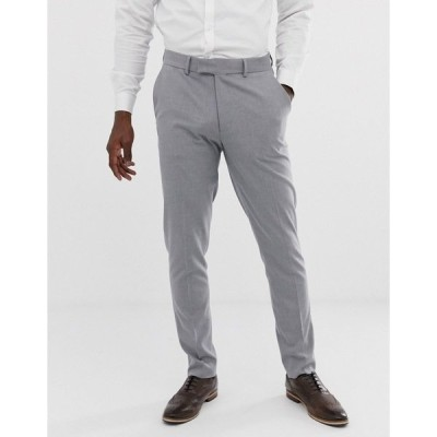エイソス メンズ カジュアルパンツ ボトムス ASOS DESIGN skinny suit pants in mid gray Grey