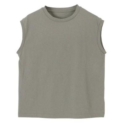 tシャツ Tシャツ コットンノースリーブカットソー
