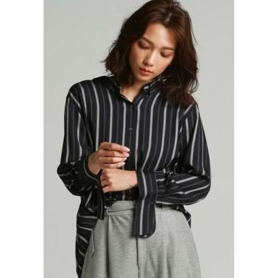 LAUTREAMONT / 抜き衿ビッグシルエットシャツ