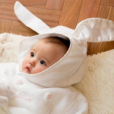 出産祝い 名入れ 3歳くらいまで長ーく使える、お名前入りバスローブのセット(BOX付き) 名前入り ベビーバスローブ お誕生日 誕生日 ベビー用品 赤ちゃん