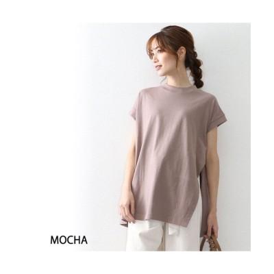 【オウンコード】 ヘビーウエイトワンサイドスリットTシャツ レディース モカ L OWNCODE