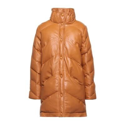 GESTUZ ダウンジャケット キャメル 34 羊革(ラムスキン) 100% ダウンジャケット